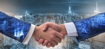 The handshake concept  - business metaphor illustration Stock Photography