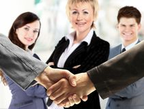 Handshake. The conclusion Stock Images