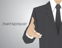 Handshake Congratulatory Corporation决定通信 库存图片