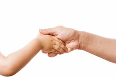Handshake Connecting Mother And Young Child Stock Photography