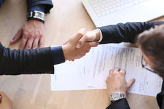 Handshake after contract signature Royalty Free Stock Photos