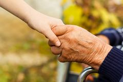 Handshake contrast Royalty Free Stock Images