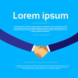 Handshake with Copy Space Business Hands Shake royalty free illustration