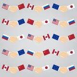 Handshake between countries Royalty Free Stock Images