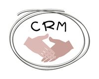 Handshake with CRM or Customer Relationship Management Concepts. Business Concepts, Handshake with CRM or Customer Relationship Management Concepts Stock Photography