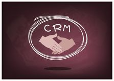 Handshake with CRM or Customer Relationship Management Concepts Royalty Free Stock Photography