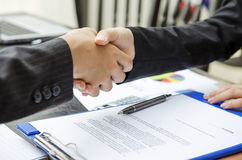 Handshake deal Stock Images