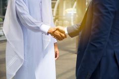 Handshake on deal success Stock Image