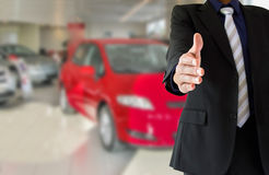 Handshake from a dealership Stock Photos