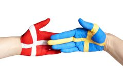 Danish swedish handshake Royalty Free Stock Image