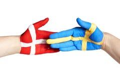 Danish swedish handshake Royalty Free Stock Image