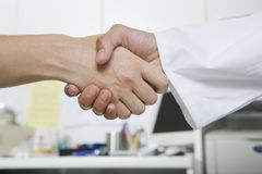 Handshake with Doctor Stock Photos