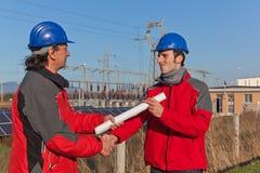 Handshake between Engineers Royalty Free Stock Image