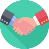 Handshake Flat Icon Stock Image