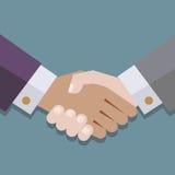 Handshake. Flat icon. illustartion stock illustration
