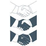 Handshake. Flat style Royalty Free Stock Images