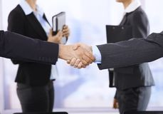 Handshake in focus Stock Image