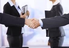 Handshake in focus stock image