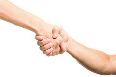 Handshake friends Royalty Free Stock Photo