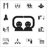 handshake friends icon. Conversation and Friendship icons universal set for web and mobile vector illustration