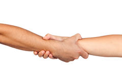 Handshake of friendship Stock Photos