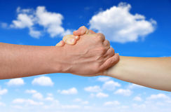 Handshake of friendship Stock Photography