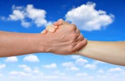 Handshake of friendship Stock Photography