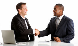Handshake for the future Royalty Free Stock Photo