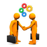 Handshake Gears Royalty Free Stock Photos