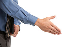Handshake gesture from Businessman Stock Photography