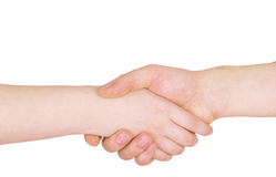 Handshake gesture Royalty Free Stock Images