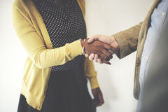 Handshake Gesturing People Connection Deal Concept Royalty Free Stock Photography