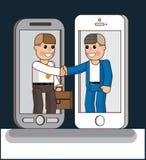 Global Business. Handshake. Global Business. Business illustration. Vector illustration Eps10 file Royalty Free Stock Photo