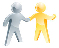 Handshake gold and silver people Stock Photography