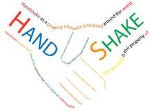 Handshake graphics Stock Images