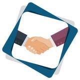 Handshake graphics, partnership concept isolated stock illustration