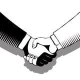 Handshake in gray tones Stock Image