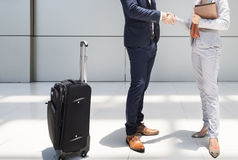 Handshake Greeting Corporate Business Travel People Concept Stock Image