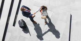 Handshake Greeting Corporate Business Travel People Concept Stock Images