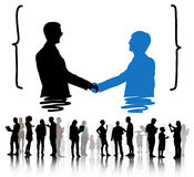 Handshake Greeting Corporate Deal Collaboration Concept Stock Photo