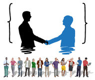 Handshake Greeting Corporate Deal Collaboration Concept Royalty Free Stock Photos