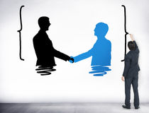 Handshake Greeting Corporate Deal Collaboration Concept Stock Images