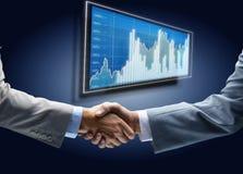 Handshake - Hand holding Stock Image