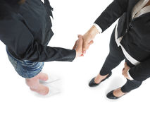 Handshake Handshaking of two business woman Stock Photography