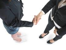 Handshake Handshaking of two business woman Stock Photography