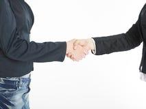 Handshake Handshaking of two business woman Royalty Free Stock Image