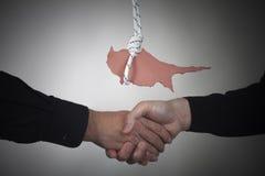 Concept Cyprus financial crisis Royalty Free Stock Photos