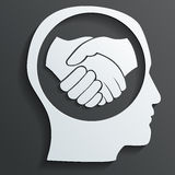 Handshake in the head vector Royalty Free Stock Photography