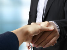 Handshake helping for business Royalty Free Stock Photography