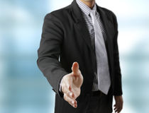 Handshake helping for business Royalty Free Stock Photos